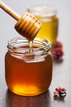 honey in jars